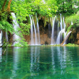 The Plitvice Lakes